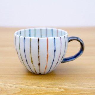 染錦線十草丸スープカップ(青)