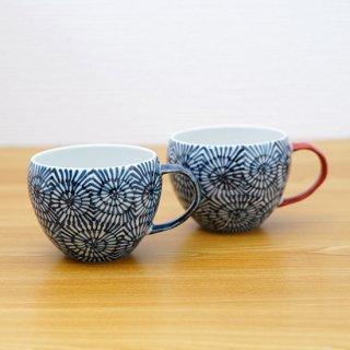 染付蛸唐草丸スープカップ