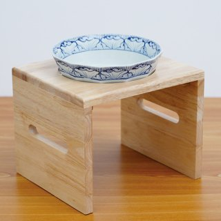 【大型犬用】Pet's Food Bowl Set(染付渕花弁紋)