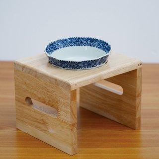 【小〜中型犬用】Pet's Food Bowl Set(染付渕蛸唐草)