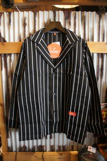 Cookman Lab.Jacket (「Stripe」 Black)