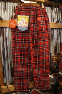 Cookman Chef Pants (「Corduroy Tartan」 RED)