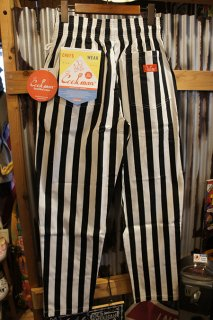 Cookman Chef Pants (「Wide stripe」 Black)