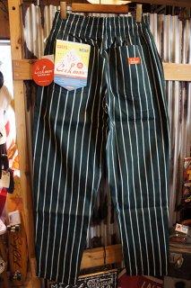 Cookman Chef Pants (「Stripe」 DARK GREEN)