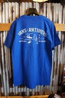 VANS X ANTI HERO ON THE WIRE SS T-SHIRT (ROYAL BLUE)