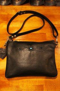 HTC BLACK #25 Turquoise Clutch Bag with Adjust Strap (BLACK)