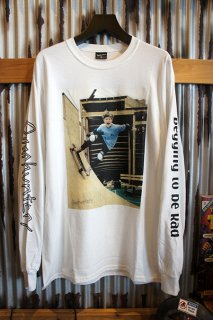 Gnarhunters Begging to be Rad L/S Tee Rob Welsh (WHITE)