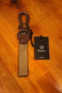 BRIXTON PLUCK KEY CHAIN (BROWN/KHAKI)