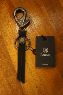 BRIXTON POODS II KEY CHAIN (NICKEL)