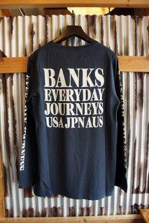BANKS BRIDGE L/S TEE SHIRT (DIRTY DENIM)