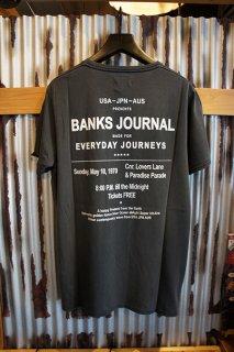 BANKS JOURNAL LEVITATE TEE SHIRT (DIRTY BLACK)