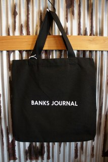 BANKS JOURNAL LABEL TOTE BAG (BLACK)