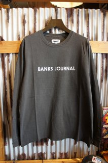 BANKS JOURNAL LABEL L/S TEE SHIRT (DIRTY BLACK)