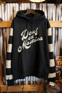 DEUS EX MACHINA BROOKS STRIPE HOODIE (BLACK)