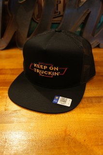 BRIXTON × CHEVROLET TRUCKIN' HIGH PROFILE MESH CAP (BEL AIR BLACK)