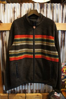 PENDLETON Camp Stripe Fleece Jacket (Brown Camp Stripe)