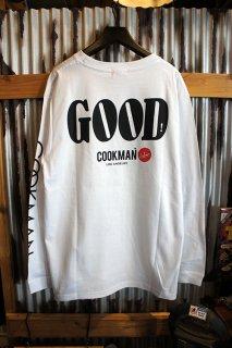 Cookman Long sleeve T-shirts (「GOOD」) White