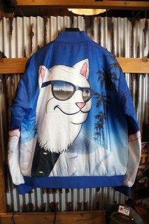 RIPNDIP Show Biz Poly Varsity Jacket (Blue)