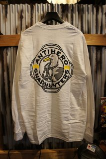 Gnarhunters × ANTI HERO L/S Tee (WHITE)