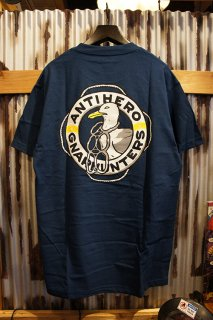 Gnarhunters × ANTI HERO Tee (NAVY)