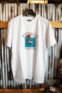 AFENDS Trial By Fire RETRO FIT TEE (WHITE)