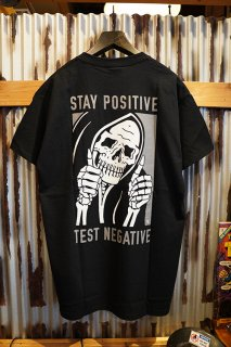 LURKING CLASS BY SKETCHY TANK STAY POSITIVE TEE (BLACK)