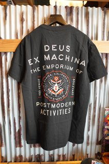 DEUS EX MACHINA VENICE ADDRESS TEE (BLACK)