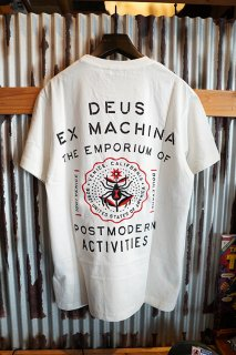 DEUS EX MACHINA VENICE ADDRESS TEE (VINTAGE WHITE)