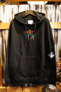 THE QUIET LIFE Rainbow Shhh Embroidered Hood (Black)