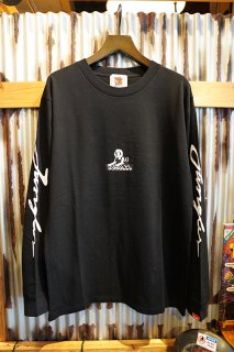 JUNGLES LOGOS LONG SLEEVE TEE (WASHED BLACK)