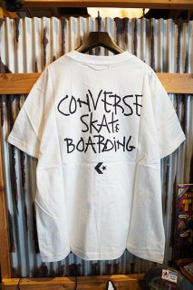 "CONVERSE SKATEBOARDING ""Wear & Goods Collection"" LOGO S/S T-SHIRT (WHITE)"