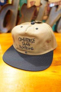 "CONVERSE SKATEBOARDING ""Wear & Goods Collection"" HANDWRITING LOGO 5PANEL CAP (GREY)"