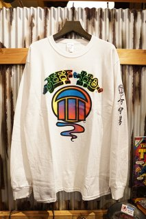 JEFF HO GRADATION LOGO L/S TEE (WHITE)