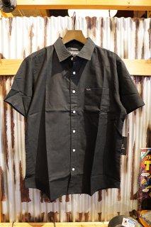BRIXTON Charter Oxford S/S Woven Shirt (Black)