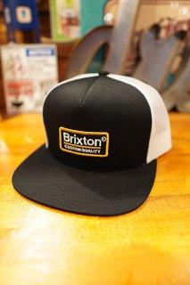 BRIXTON Palmer Mesh Cap (Black/White/Gold)