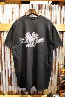 CYCLE ZOMBIES BIG TWIN Premium Pocket S/S T-Shirt (Black)