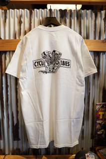 CYCLE ZOMBIES BIG TWIN Premium Pocket S/S T-Shirt (White)