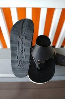 The Sandalman BEACH WAID LEATHER SANDAL VIBRAM #2070 (BLACK/WHITE)
