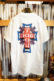 DOGTOWN Cross Logo USA T-shirt (White/USA)