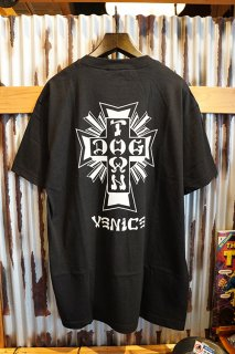DOGTOWN Cross Logo x Venice T-shirt (Black/White)