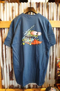 SANTA CRUZ SLASHED S/S T-SHIRT (BLUE)