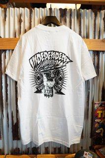 INDEPENDENT SHREDDED S/S T-SHIRT (WHITE)
