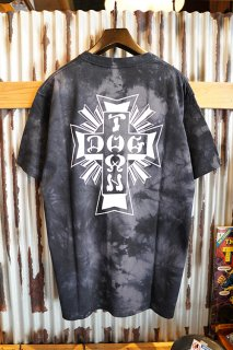 DOGTOWN Cross Logo Tie-dye S/S T-shirt (Black/White)