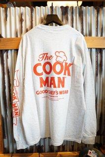 Cookman Long sleeve T-shirts 「Heart」 (LIGHT GRAY)