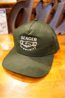 SEAGER CO.MMUNITY HEMP SNAPBACK CAP (GREEN)