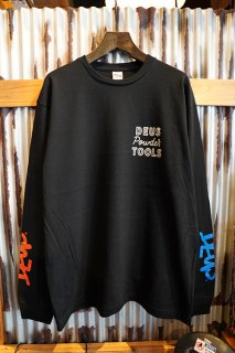 DEUS EX MACHINA POWDER TOOLS Made in JAPAN ASCEND LS TEE (BLACK)