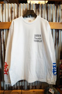 DEUS EX MACHINA POWDER TOOLS Made in JAPAN ASCEND LS TEE (WHITE)