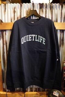THE QUIET LIFE Quiet Arch Crew Neck Sweat (NAVY)