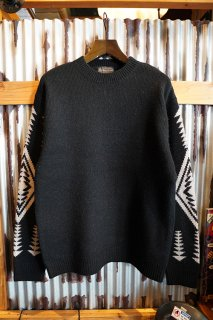 PENDLETON CREW NECK PULLOVER KNIT (BLACK)