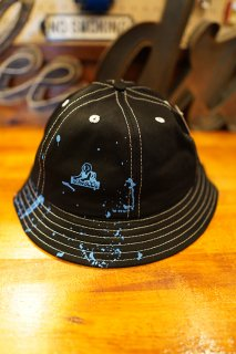 JUNGLES PAINT SPLATTER BUTCKET HAT (BLACK)